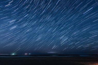 60 minutes of the star of the trajectory (Sendai Arahama Coast)