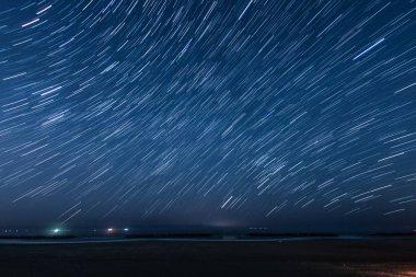 Of 50 minutes star of the trajectory (Sendai Arahama Coast)