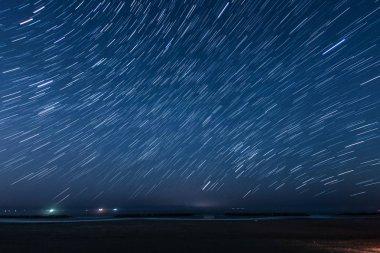 Of 40 minutes star of the trajectory (Sendai Arahama Coast)