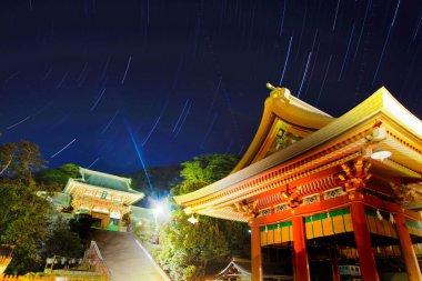 Locus of Tsuruoka Hachiman and stars