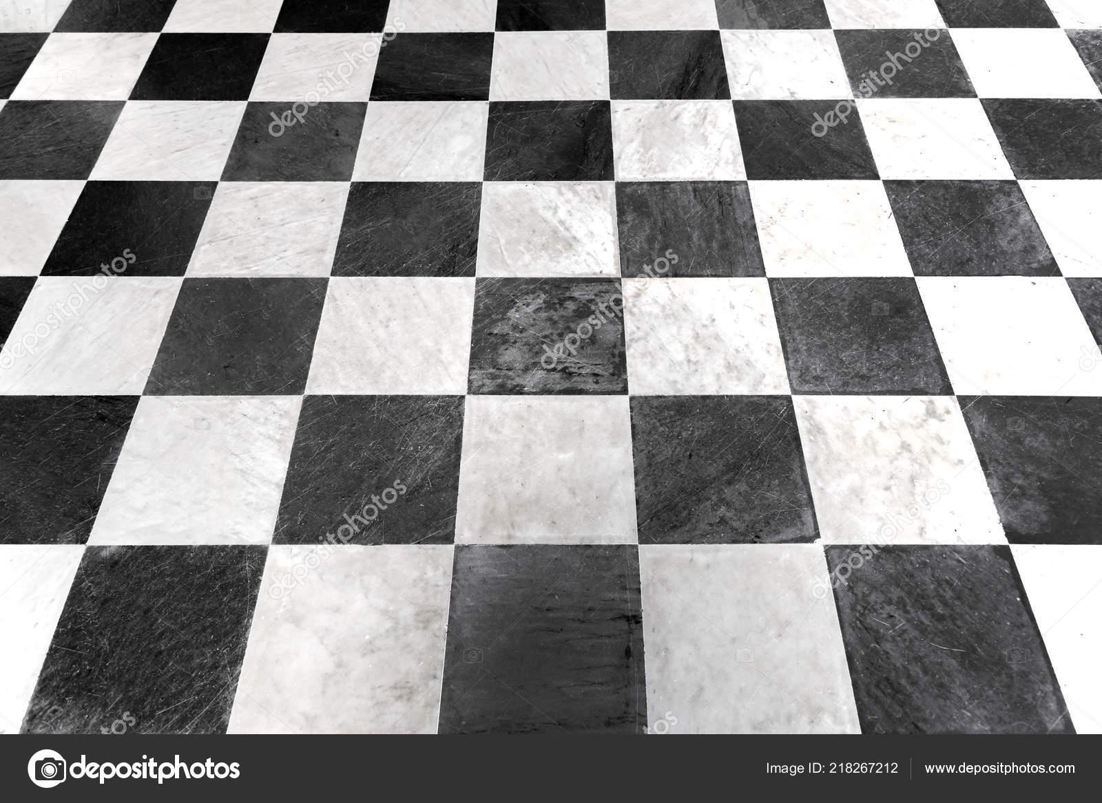 Carrelage Damier Noir Blanc Fond Marbre Photographie