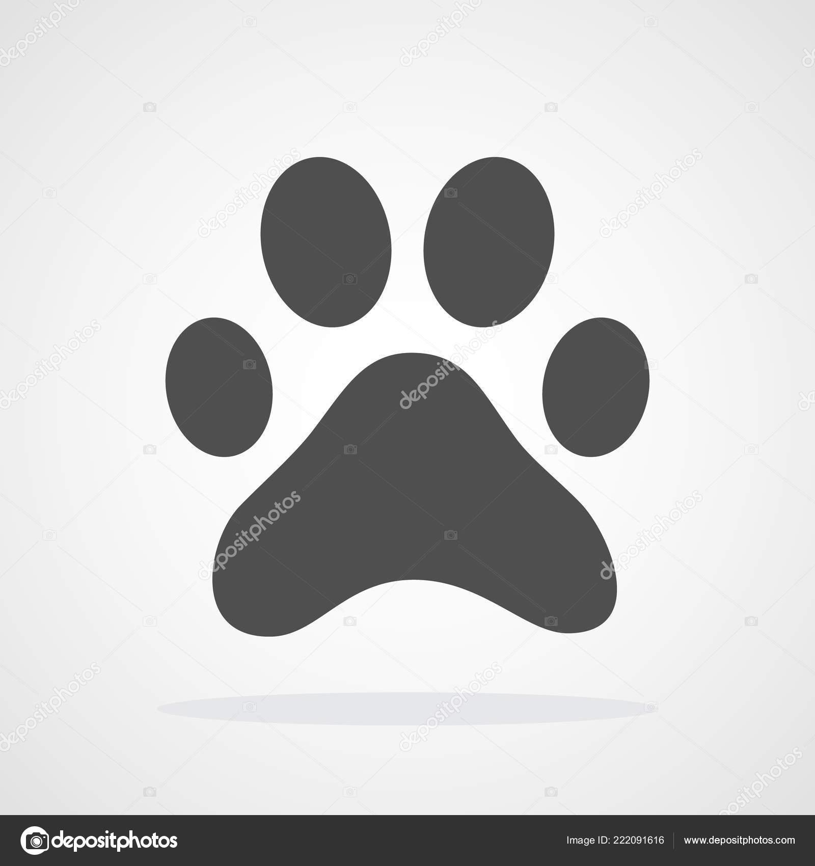 Dog Cat Paw Print Icon Vector Illustration Paw Print Sign