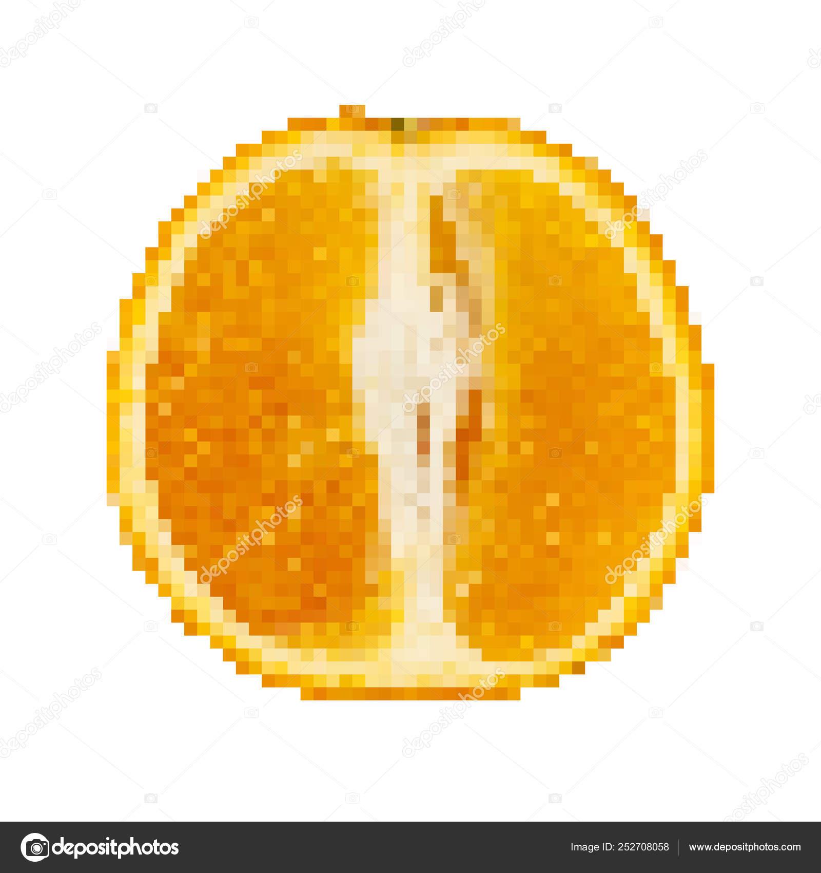 An Orange In Pixel Art Design Vector Illustration Stock Vector C Chekman1 252708058