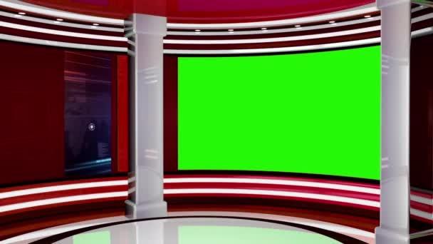 Virtuális hírek Studio Set Green Screen