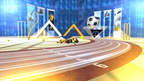 Virtuális Sport Studio Set Háttér