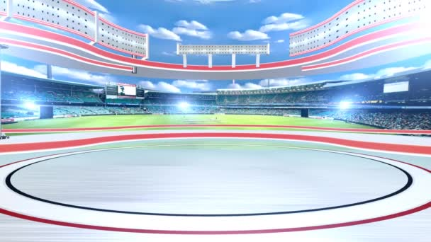 Virtuelles Sportstudio als Hintergrund