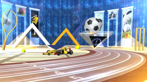 Virtual Sports Studio Set Background