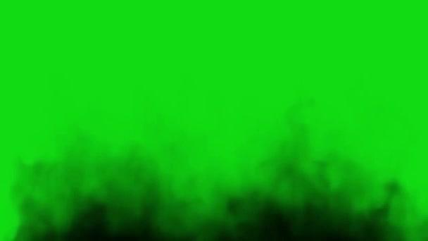 Černý kouřový efekt na zelené obrazovce