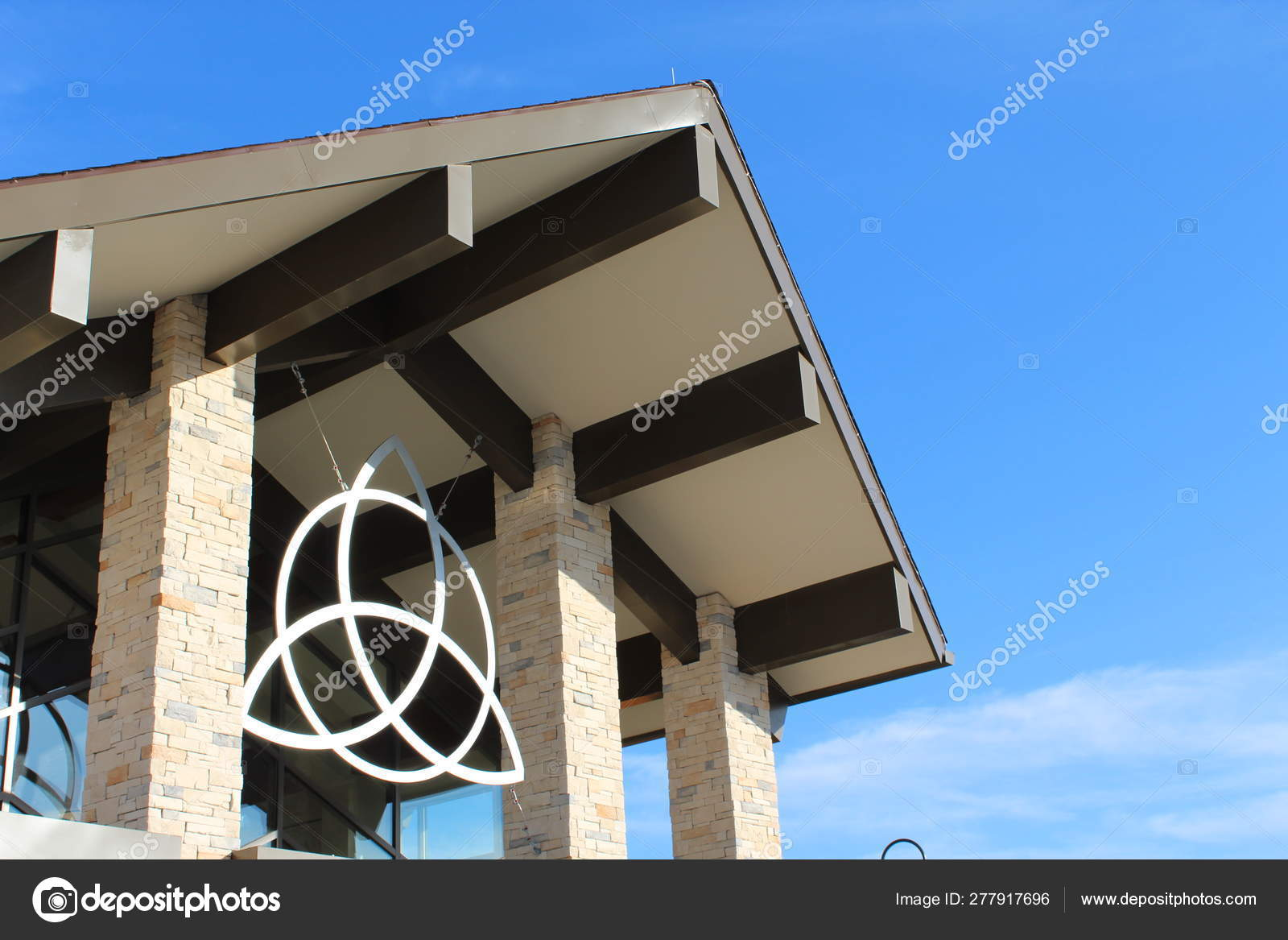 Entrance Modern Church Building — Stock Photo © 678studio #277917696