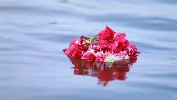 To je klip, ve kterém květina plave v řece