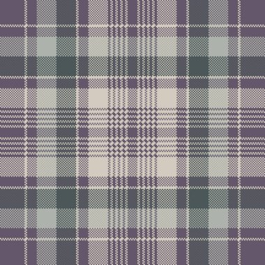 Check plaid pixel fabric texture seamless pattern. Vector illustration.