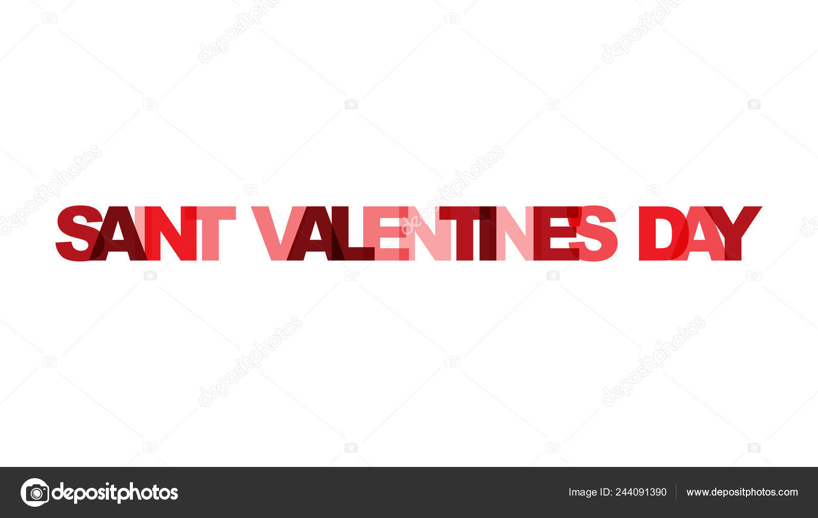 San Valentín Superposición Frase Color Transparencia