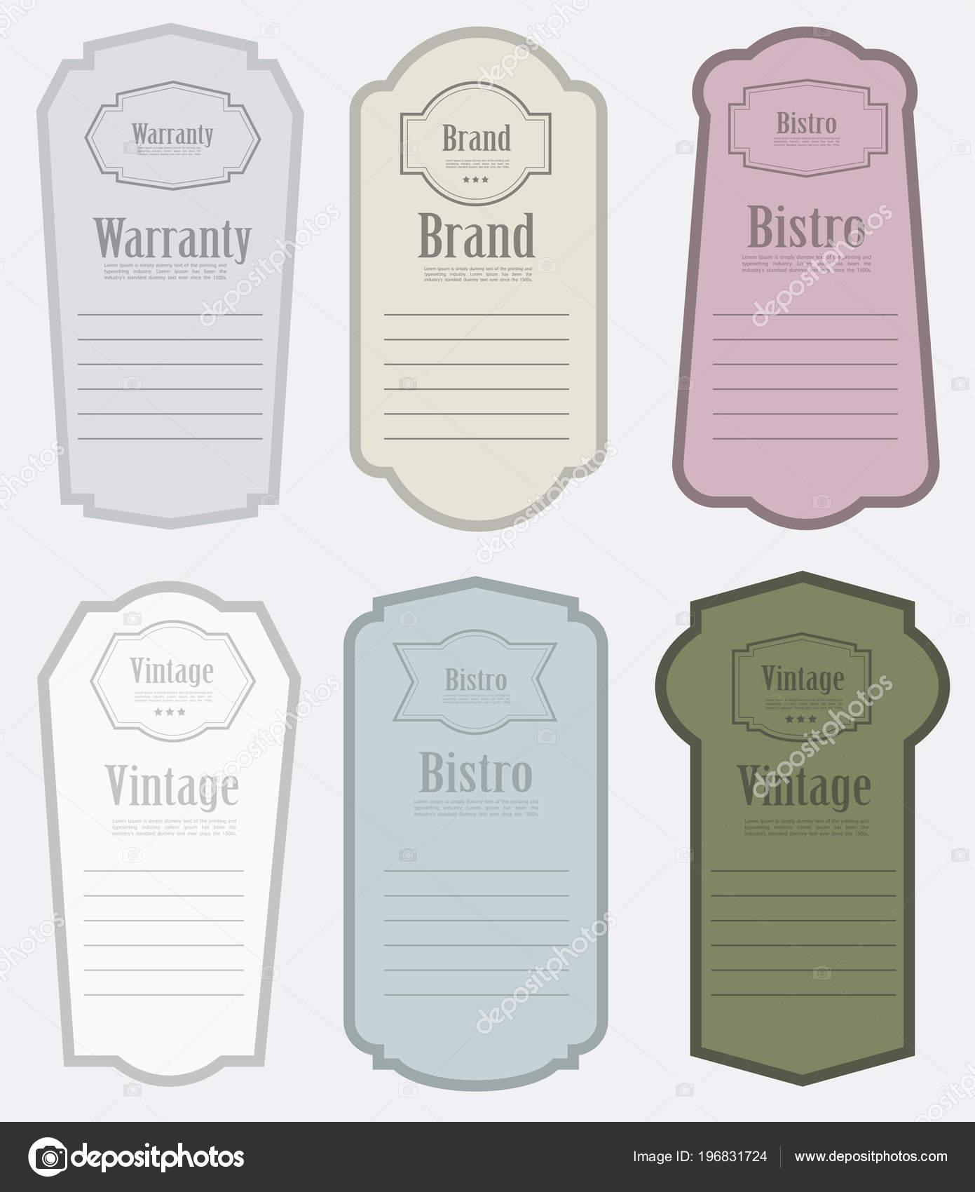 Conjunto Diseño Plantillas Diseño Etiqueta Vintage Vector ...