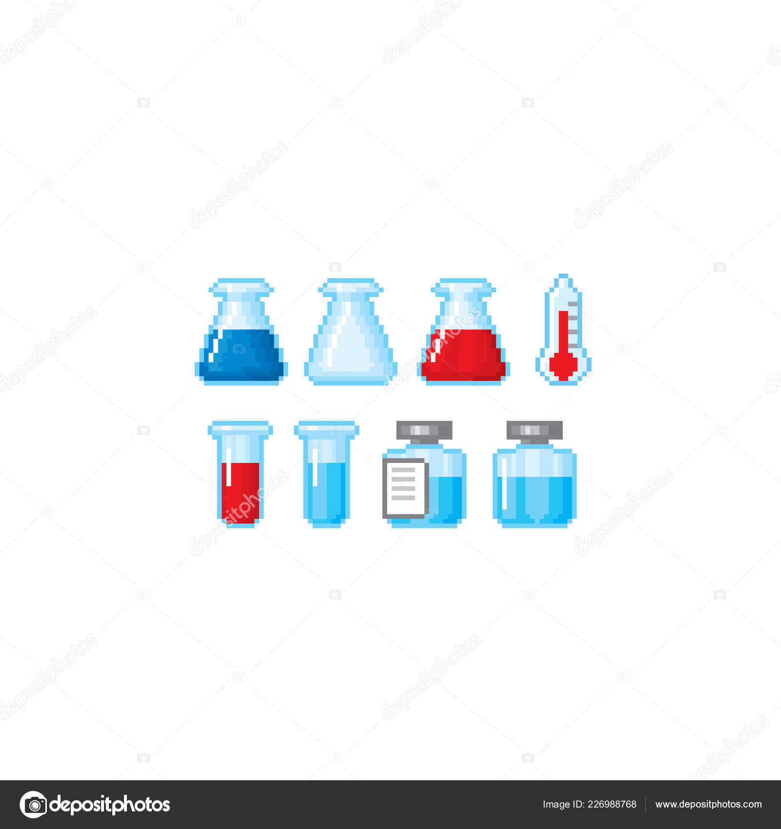 Medical and healthcare related icons set  Pixel art  Old