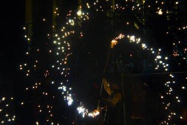 fire firework show dance