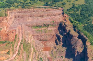 Stone Quarry Open Cast Landscape Flying Aerial Photo