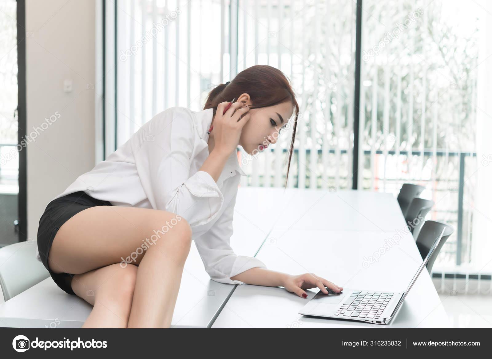 Hidden Cam Office Secretary