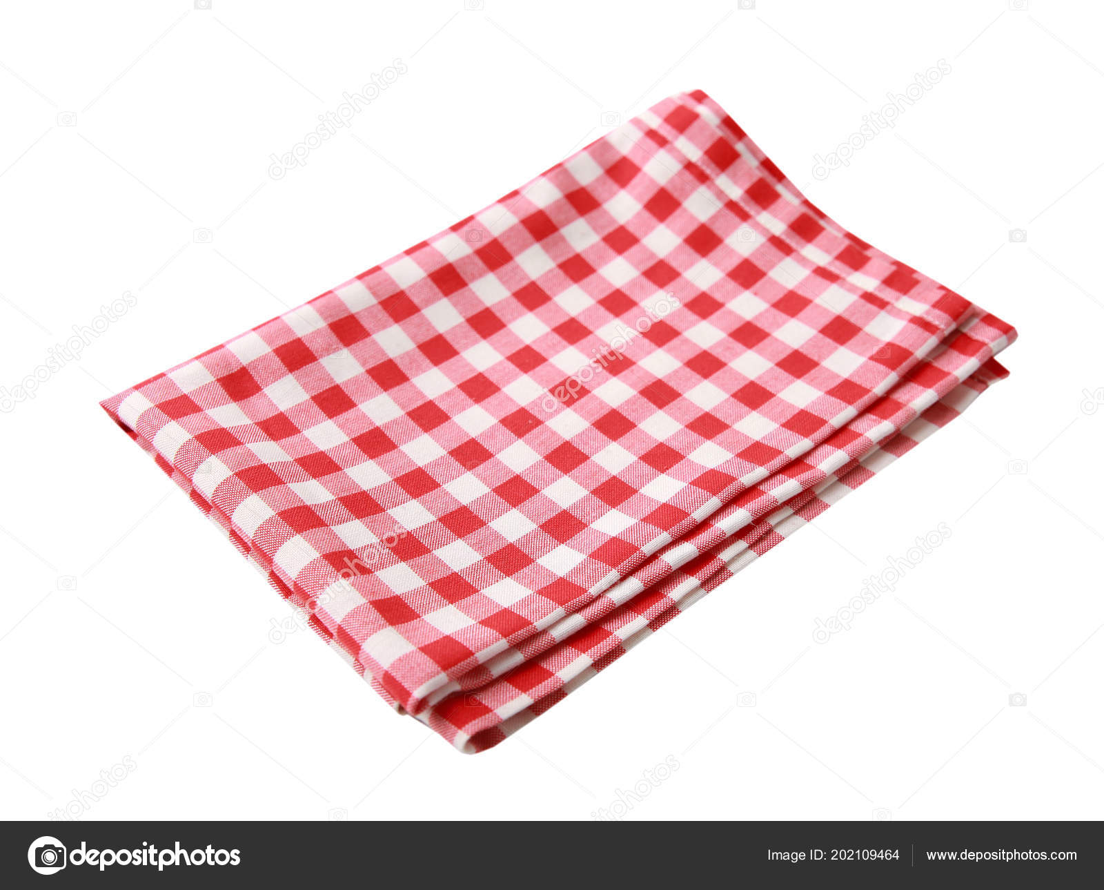 Pique Nique Rouge Table Tissu Isolted Serviette Table Damier U2014 Photo