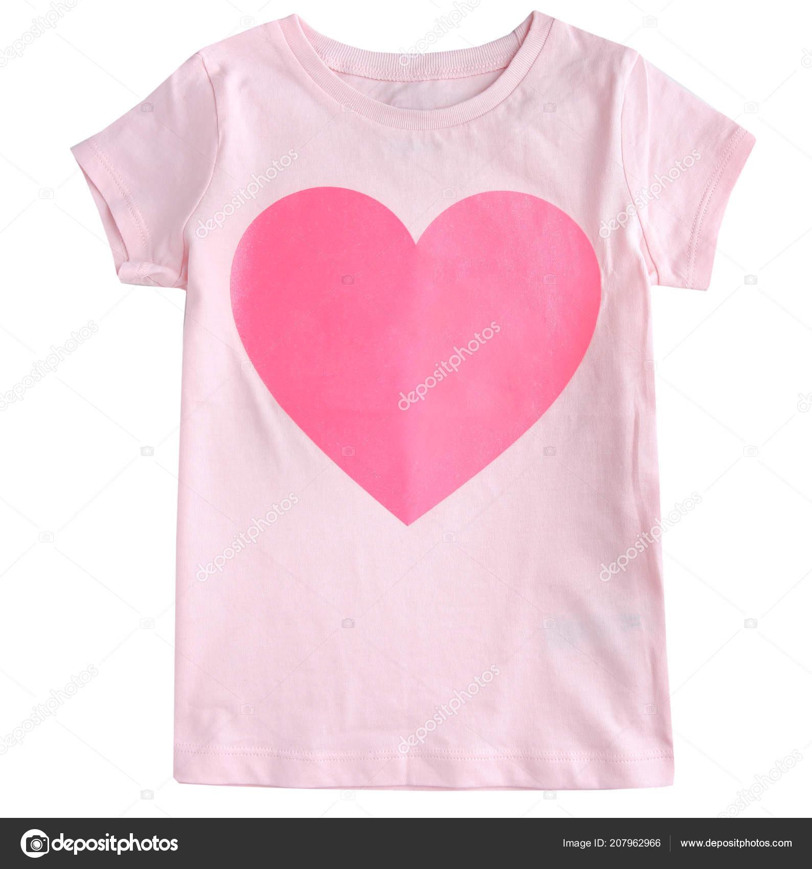 1c5a0d3692ab Tričko Prázdné Prázdné Srdce Samostatný Láska Koncepce Designu — Stock  fotografie