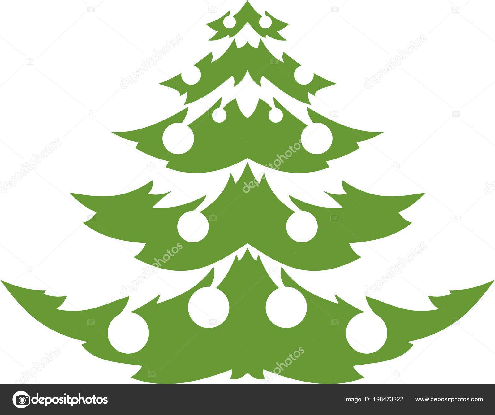 Christmas Trees Silhouette.Christmas Trees Silhouette White Background Stock Vector