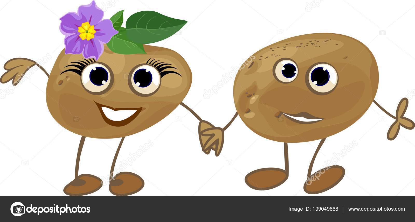 Couple Funny Potatoes Personification Gender Symbols ⬇ Vector Image by ©  mariaflaya | Vector Stock 199049668
