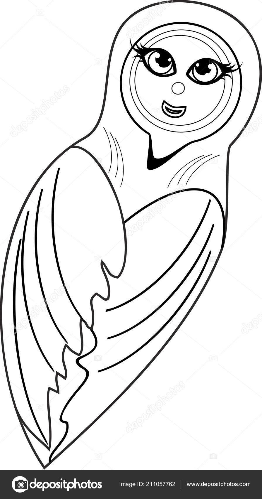 Página Para Colorear Pupa Dibujos Animados Lindo Mariposa Archivo