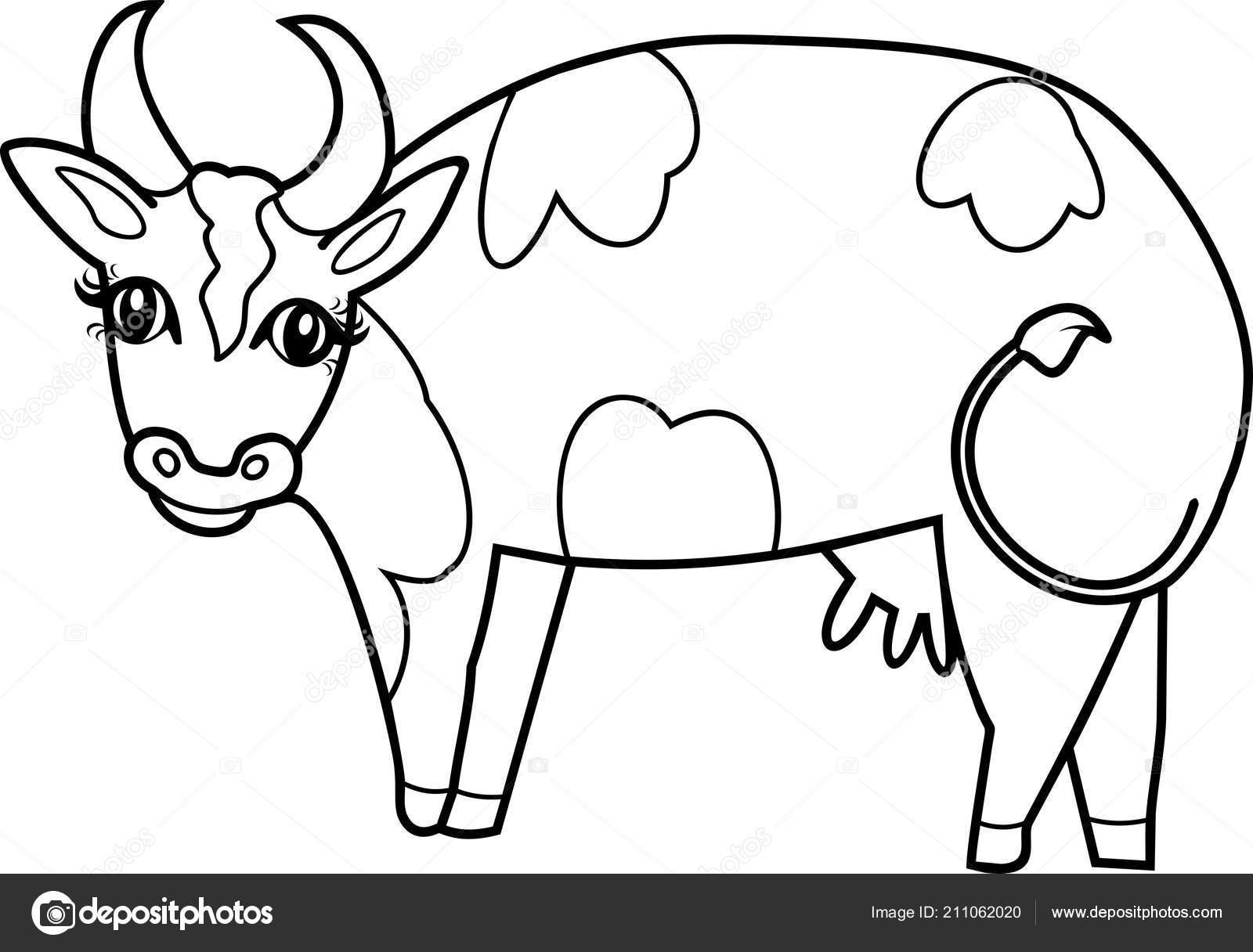 Dibujos De Vacas Animadas Para Colorear: Dibujos Para Colorear Vaca