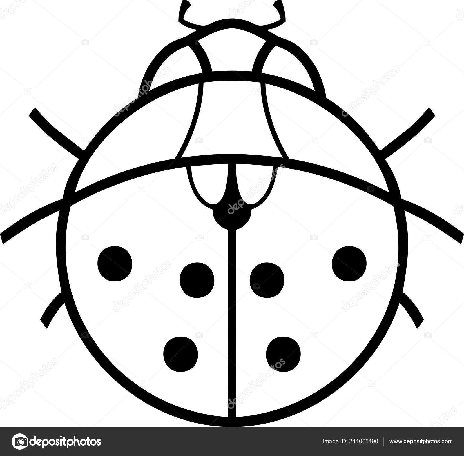 Coloriage Coccinelle Dessin Stylise Image Vectorielle Mariaflaya