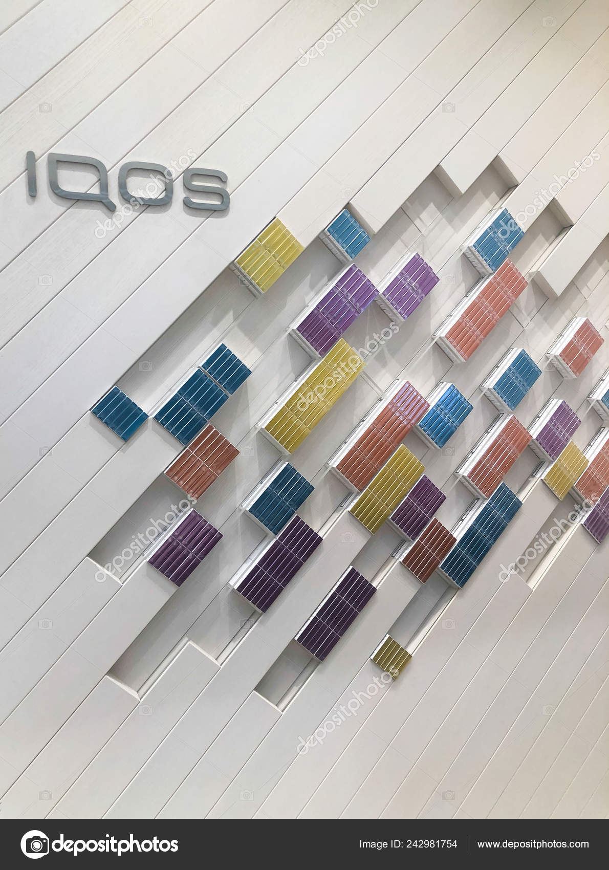 MOSCOW, RUSSIA - FEBRUARY 04, 2019: Iqos electronic