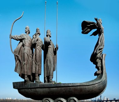 The monument to the founders of Kiev, Ukraine