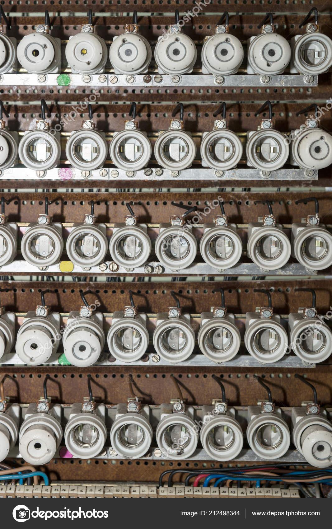 old electrical fuse box porcelain fuses \u2014 stock photo © kelifamily