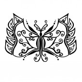 Fotografie Stylized butterfly drawing (vector)