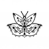 Stylized butterfly drawing (vector)