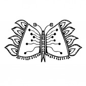 Photo Stylized butterfly drawing (vector)