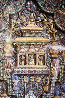 LONDON, UK,  BRITISH MUSEUM. Indian impressive deatils and work, fine objects with precious stones and metals