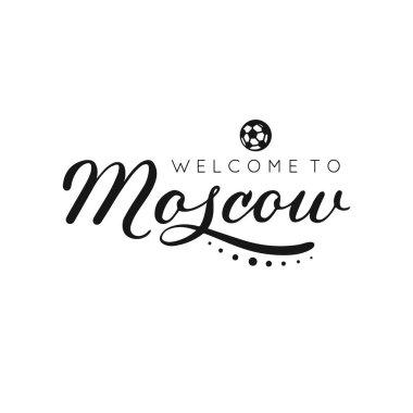 Moscow handwritten lettering inscription. Vector illustration.
