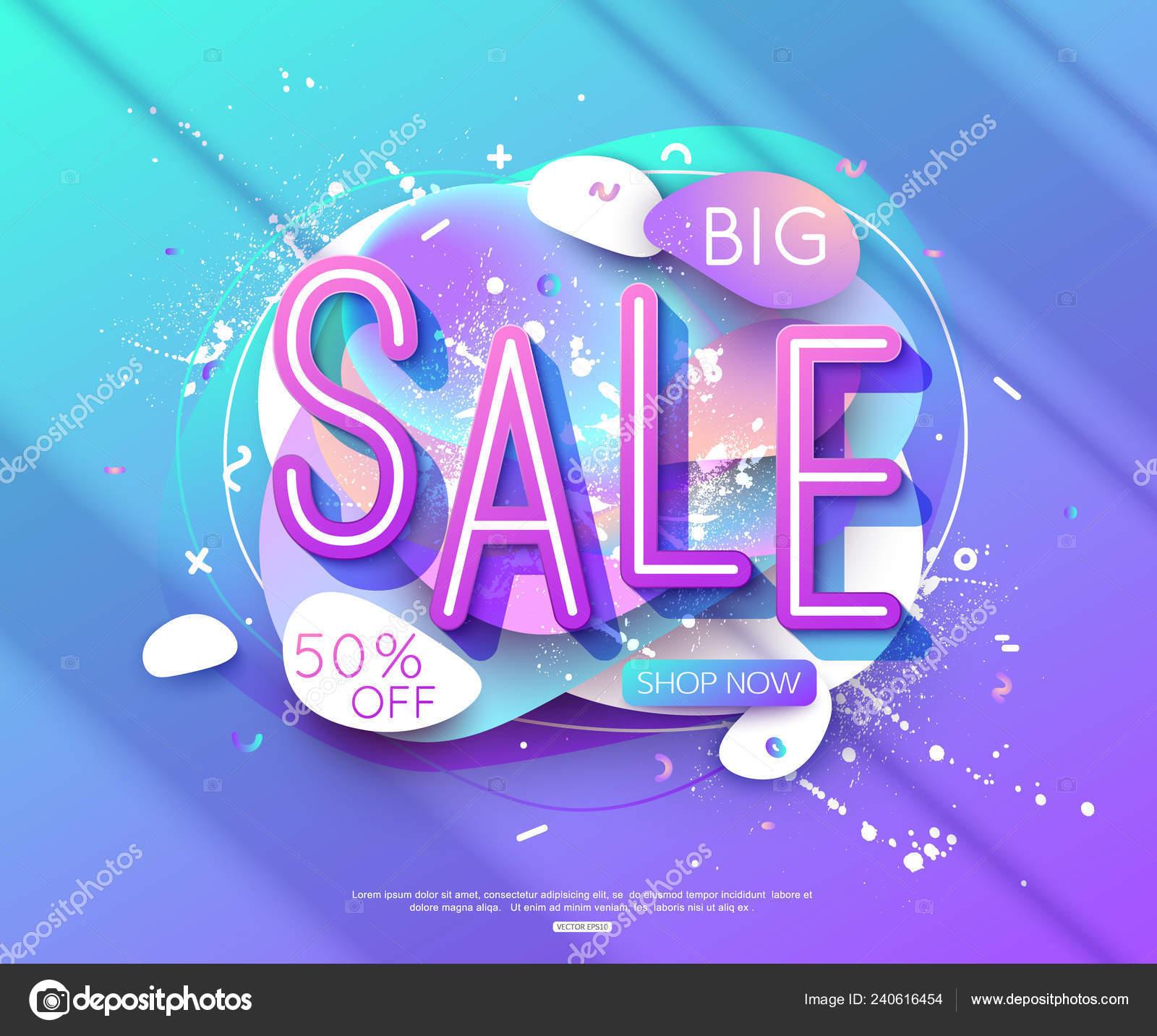 Vektor Verkauf Banner Layout Design Fur Online Shopping Und Drucken