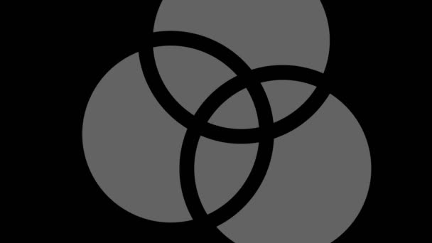 Graphic object in black and white with stroboscopic and hypnotic effect, which rotates clockwise decreasing the size from full screen to disappearing in the center, in 16: 9 video format