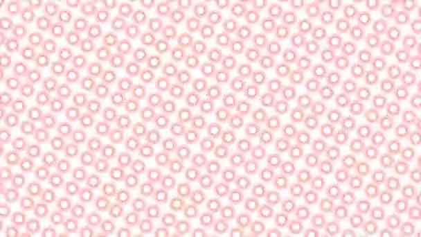 Barevný grafický vzor, který se otáčí ve směru hodinových ručiček do středu, různé velikosti, s hypnotickým, psychedelickým a stroboskopickým efektem na minimálním černém pozadí, ve formátu 16: 9 video.