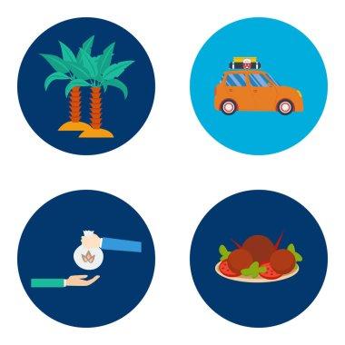 Eid Mubarak and Ramadan Icons Design