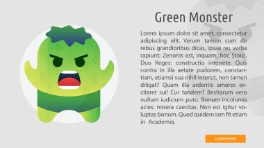 Green Monster Conceptual Banner Design
