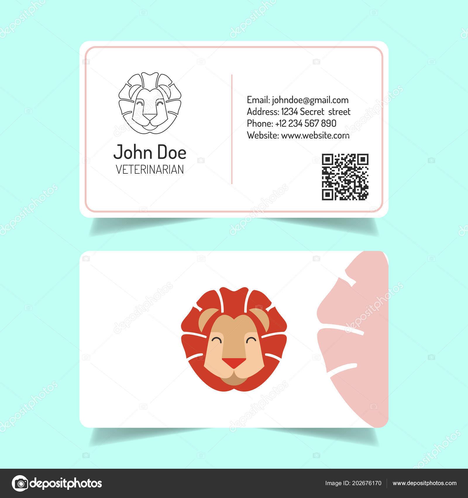 Einfache Visitenkarten Design Mit Weißem Hintergrund Leo