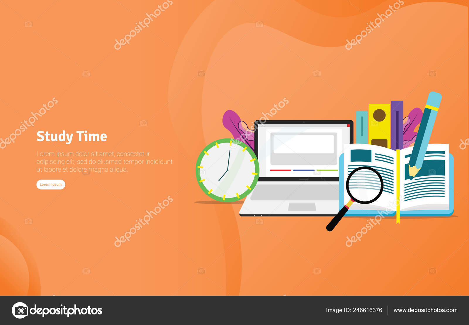 Study Time Students Concept Educational Scientific Illustration Banner Suitable Wallpaper Stock Vector C Graphiqa 246616376