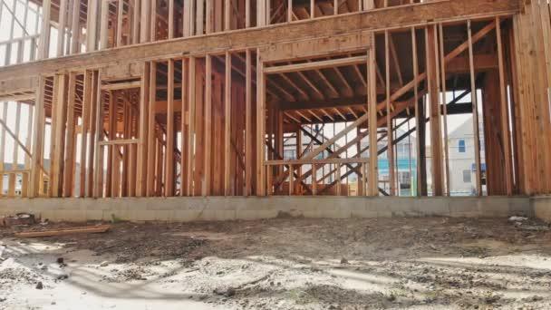 Budování nových domů stavební vnější dřevo beam konstrukce