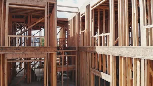 Bytových domů stavební lokality zarámované zavřít nahoru široký záběr z výstavba nových domů s nějakou orámované zdi