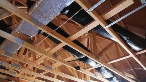 fragment ventilační systém v domě, ve tvaru rámu