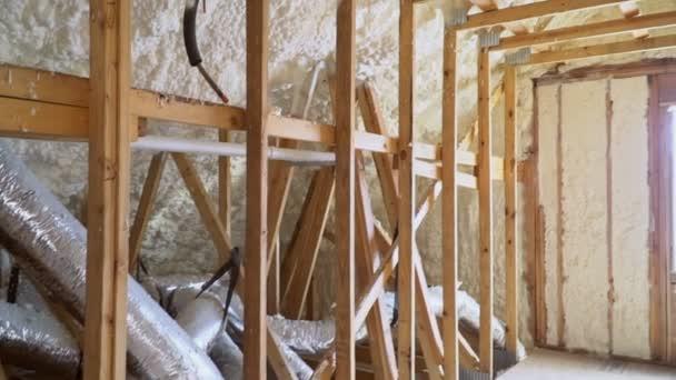 výstavba domů s fragmentem ventilační systém v domě, rám