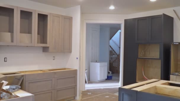 Personalizzato armadi da cucina in varie fasi di base per installazione di  mobili da cucina