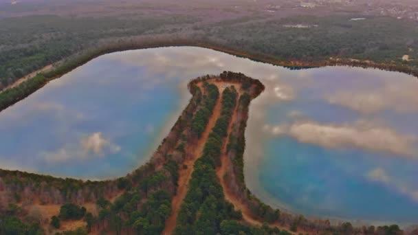 Krásný západ slunce jezero panoramatická vyhlídka