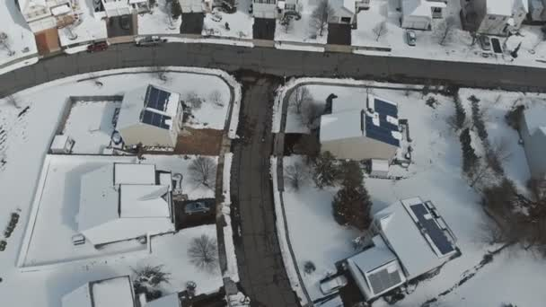 A beautiful winter day, a view of the panorama made with the drone, a sunny view of houses